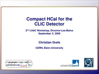 Compact  HCal  for the CLIC Detector