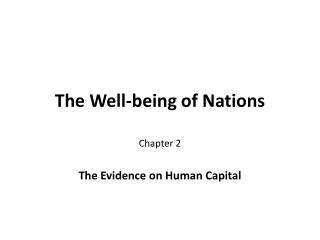 The Well-being of Nations