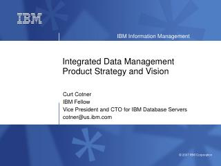 Integrated Data Management Product Strategy and Vision