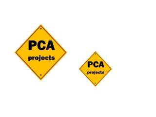 PCA projects