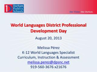 World Languages District Professional Development Day