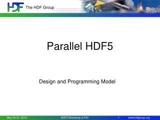Parallel HDF5