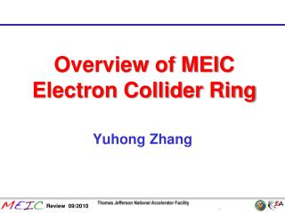Overview of MEIC Electron Collider Ring