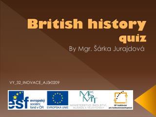British history quiz