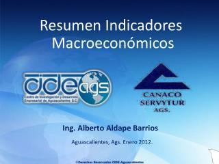 Aguascalientes, Ags . Enero 2012.