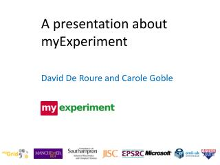 A presentation about myExperiment