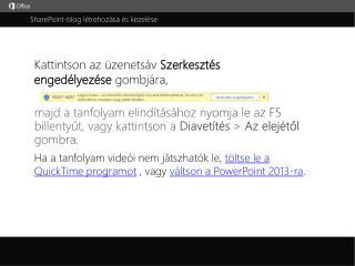 SharePoint-blog létrehozása és kezelése