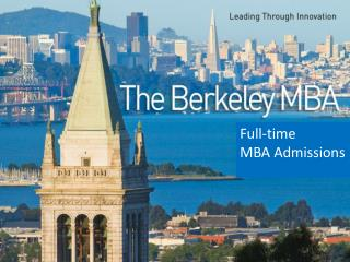 Full-time  MBA Admissions