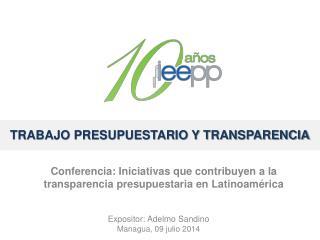 trabajo presupuestario y transparencia