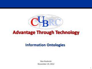 Information Ontologies