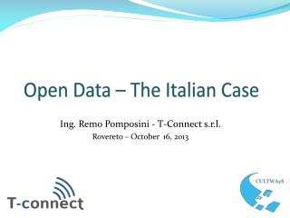 Open Data – The  Italian  Case