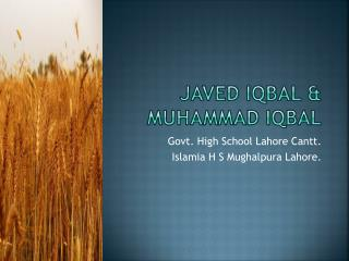 Javed Iqbal & Muhammad Iqbal