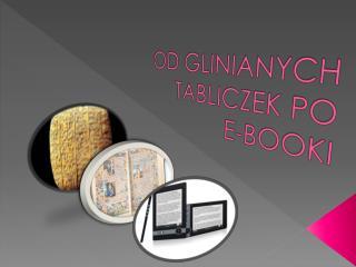 OD GLINIANYCH   TABLICZEK PO   E-BOOKI
