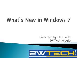 What's New in Windows 7