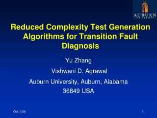 Reduced Complexity Test Generation Algorithms for Transition Fault Diagnosis
