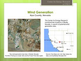 Wind Generation Nye County, Nevada
