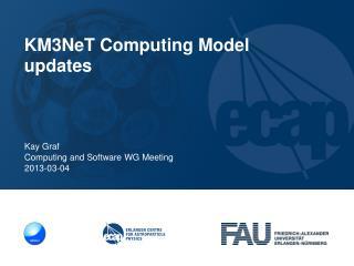 Kay Graf Computing  and  Software WG Meeting 2013-03-04