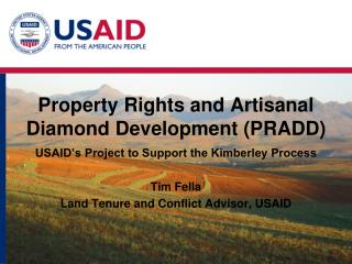 Property Rights and Artisanal Diamond Development (PRADD)