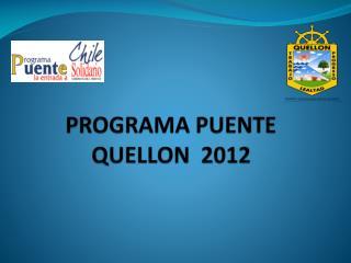 PROGRAMA PUENTE QUELLON  2012