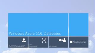 Windows Azure SQL Databases