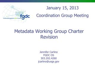 Metadata Working Group Charter Revision