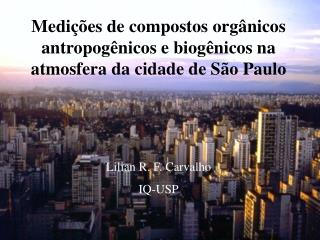 Medi  es de compostos org nicos antropog nicos e biog nicos na atmosfera da cidade de S o Paulo
