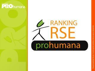 Ranking  Nacional  de Responsabilidad Social Empresarial  Una iniciativa de Con el patrocinio de