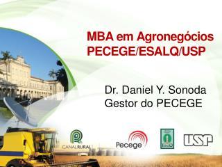 MBA em Agronegócios  PECEGE/ESALQ/USP