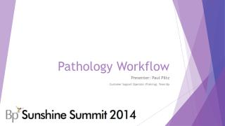Pathology Workflow