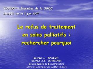 XXXIX mes Journ es de la SGOC CHOLET 1er et 2 juin 2007
