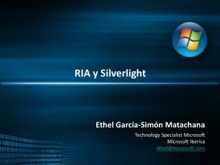 RIA y  Silverlight