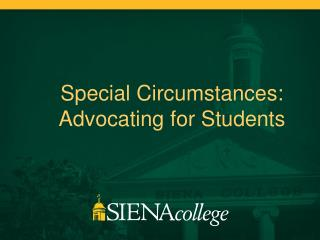 Special  Circumstances : Advocating for Students