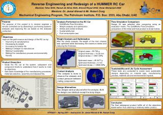 Reverse Engineering and Redesign of a HUMMER RC Car
