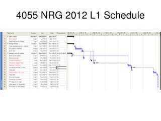 4055 NRG 2012 L1 Schedule