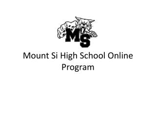 Mount Si High School Online Program
