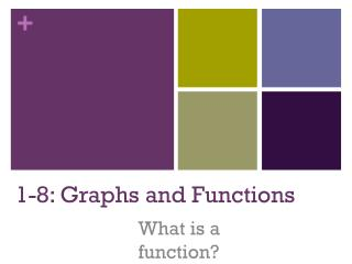 1-8: Graphs and Functions