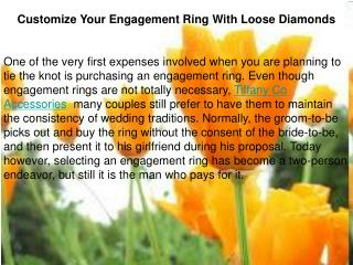 Customize Your Engagement Ring With Loose Diamonds