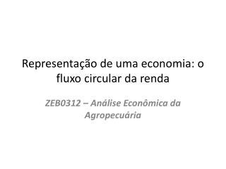 Representação de uma economia: o fluxo circular da renda