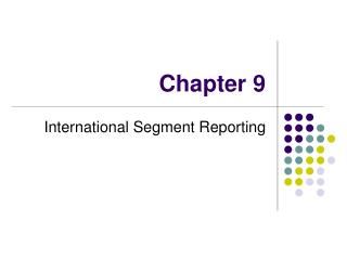 International Segment Reporting