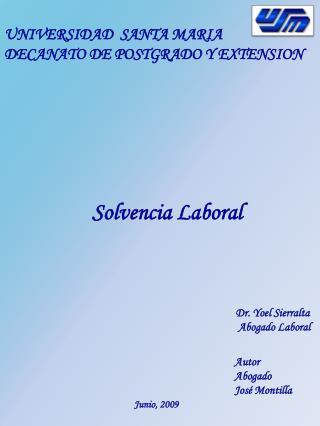 Solvencia Laboral