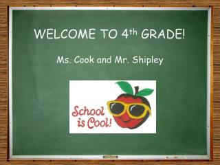 WELCOME TO 4 th  GRADE!