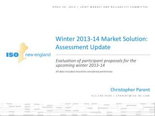 April 30, 2013 | Joint Market and Reliability Committee