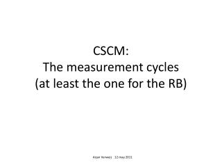 CSCM: The measurement cycles (at least the one for the RB)