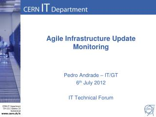 Agile Infrastructure Update Monitoring