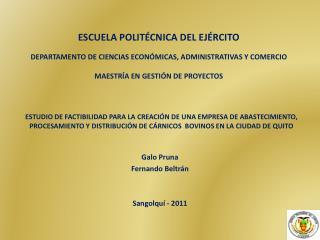 ESCUELA POLITÉCNICA DEL EJÉRCITO DEPARTAMENTO DE CIENCIAS ECONÓMICAS, ADMINISTRATIVAS Y  COMERCIO