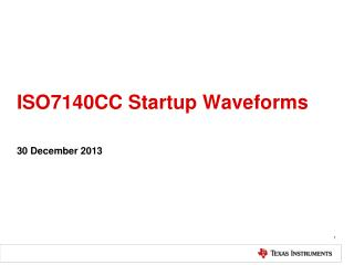 ISO7140CC Startup Waveforms