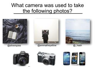 What camera was used to take the following photos?
