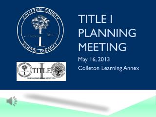 Title I Planning Meeting
