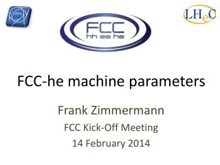 FCC-he machine parameters