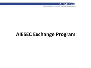 AIESEC Exchange Program